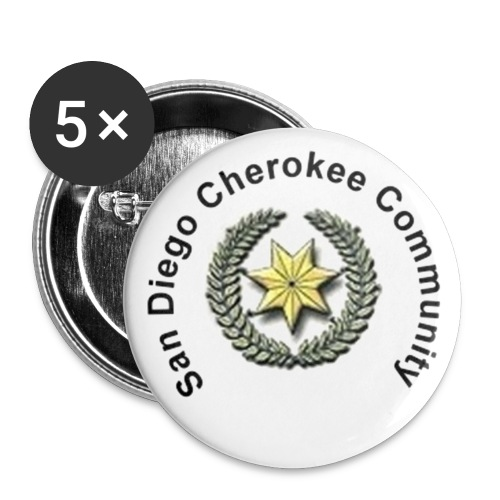 San Diego Cherokee Community Buttons - Large Buttons