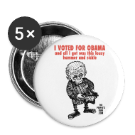 Buttons ~ Large Buttons ~ I Voted For Obama