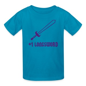 +1 Longsword - Kids' T-Shirt
