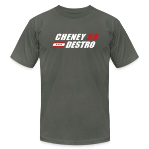 Cheney - Destro 2008 - Men's T-Shirt by American Apparel