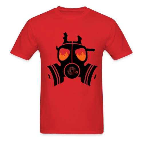 Gas Mask mens tee - Men's T-Shirt