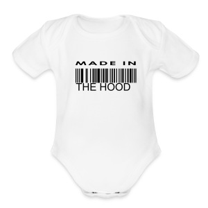 W MADE IN THE HOOD ONE SIZE - Short Sleeve Baby Bodysuit