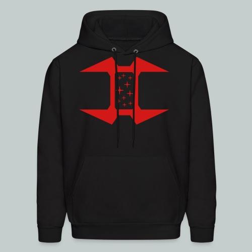 Zipless Hoodie, Logo on front, URL on back - Men's Hoodie