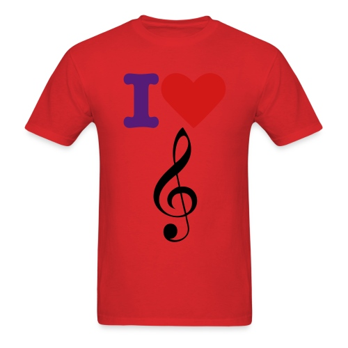 ILove Music - Men's T-Shirt