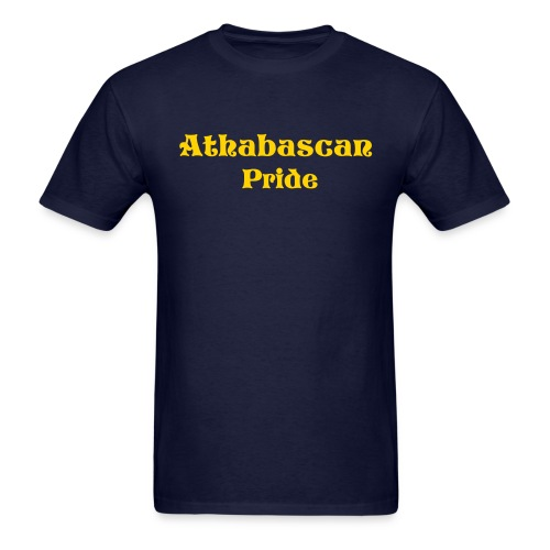 Mens Athabascan Pride Shirt (Blue/Gold) - Men's T-Shirt