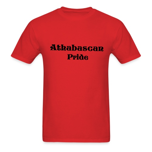 Mens Athabascan Pride Shirt (Red/Black) - Men's T-Shirt
