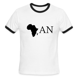 White/black africAN Men - Men's Ringer T-Shirt