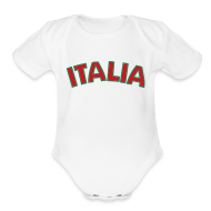 Baby Bodysuits ~ Baby Short Sleeve One Piece ~ Infant ITALIA, White