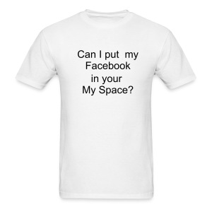 Can i put my facebook - Men's T-Shirt