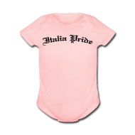 Baby Bodysuits ~ Baby Short Sleeve One Piece ~ Infant Italia Pride Gothic, Pink
