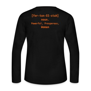 2 sided Fortunista LS T - Women's Long Sleeve Jersey T-Shirt