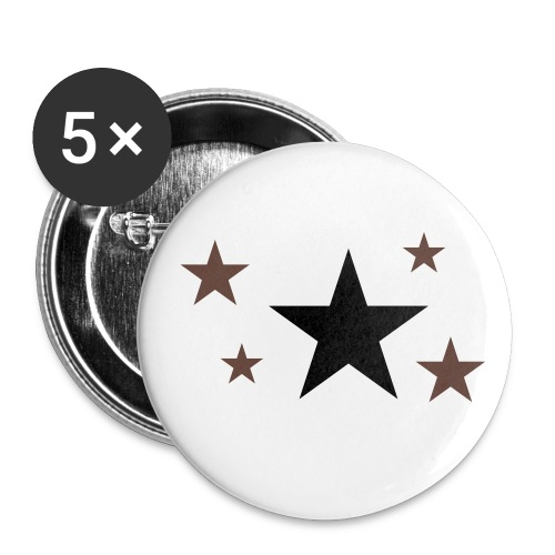 IdolStarz Badge White/Black - Large Buttons