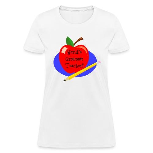 Worlds Best Teacher Womens T Shirt - Women's T-Shirt