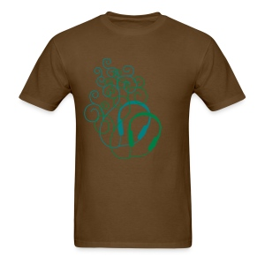 MUSIC GARDEN (BROWN) - Men's T-Shirt