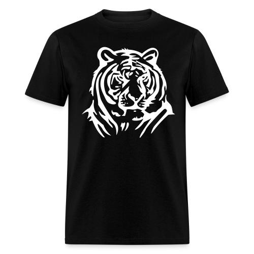 Tiger On Mens Black T Shirt - Men's T-Shirt