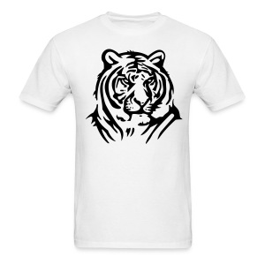 Tiger On Mens White T Shirt - Men's T-Shirt
