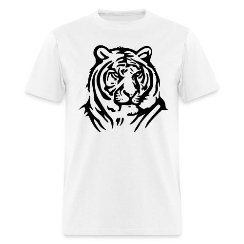 Tiger On Mens White T Shirt - Men's T-Shirt