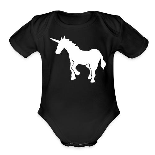 Unicorns are real mom! - Organic Short Sleeve Baby Bodysuit