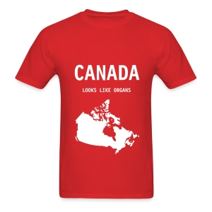 Canada Looks Like Organs (lightweight) - Men's T-Shirt