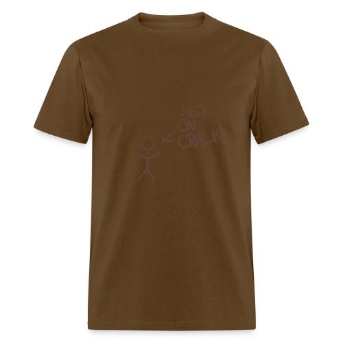 Stick On Crack - Men's T-Shirt