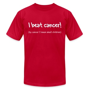 I beat cancer! - Men's Fine Jersey T-Shirt