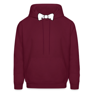 Burgundy bow tie Men