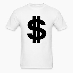 White Dollar - Money - Currency - Bank - Symbol Men