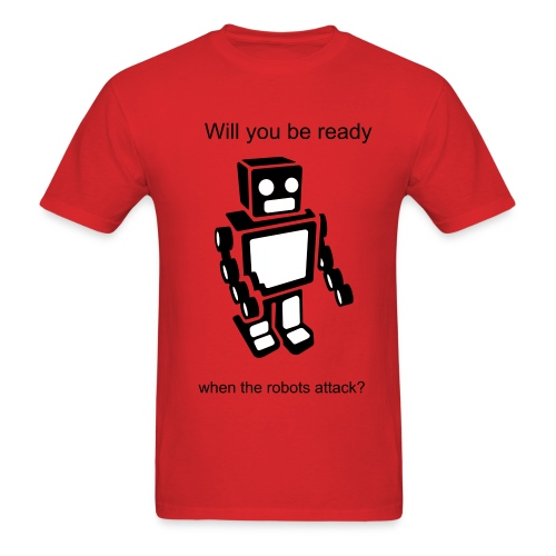 The Robot T - Men's T-Shirt