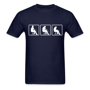Drummer evolution mens navy blue tee - Men's T-Shirt