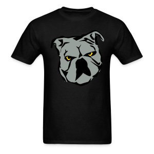 Bulldog on mens black tee - Men's T-Shirt