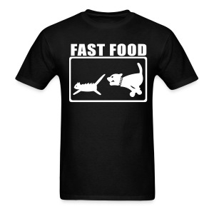 Real Fast Food mens black tee - Men's T-Shirt