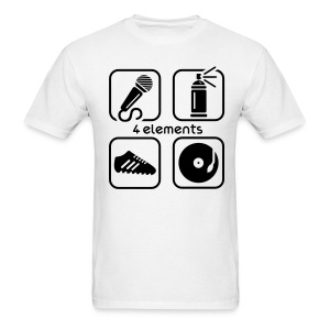 The 4  Elements mens white tee - Men's T-Shirt