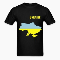 Black Ukraine flag map Men