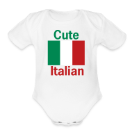 Baby Bodysuits ~ Baby Short Sleeve One Piece ~ Cute Italian Onesy, White