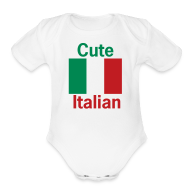 Baby Bodysuits ~ Baby Short Sleeve One Piece ~ Cute Italian Onesy, White
