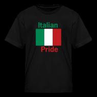 Kids' Shirts ~ Kids' T-Shirt ~ Kids Italian Pride, Black