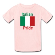 Kids' Shirts ~ Kids' T-Shirt ~ Kids Italian Pride, Pink