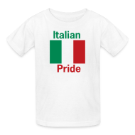 Kids' Shirts ~ Kids' T-Shirt ~ Kids Italian Pride, White