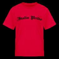 Kids' Shirts ~ Kids' T-Shirt ~ Kids Italia Pride Gothic, Red