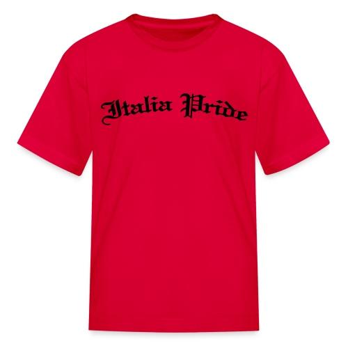 Kids Italia Pride Gothic, Red - Kids' T-Shirt