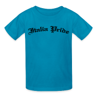 Kids' Shirts ~ Kids' T-Shirt ~ Kids Italia Pride Gothic, Pink