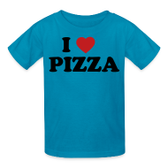 Kids' Shirts ~ Kids' T-Shirt ~ Kids I Love Pizza, Pink