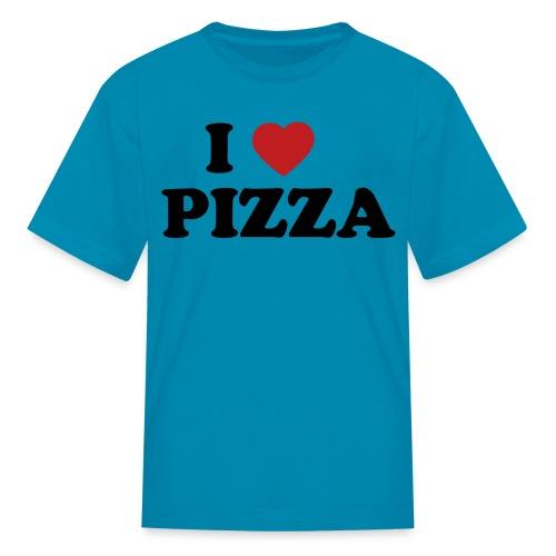 Kids I Love Pizza, Pink - Kids' T-Shirt