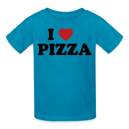 Kids I Love Pizza, Pink - Kids' T-Shirt