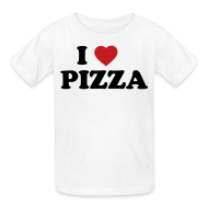 Kids' Shirts ~ Kids' T-Shirt ~ Kids I Love Pizza, White