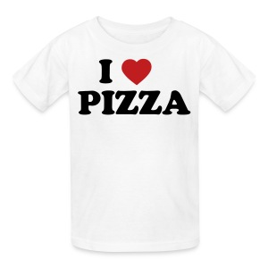 Kids I Love Pizza, White - Kids' T-Shirt