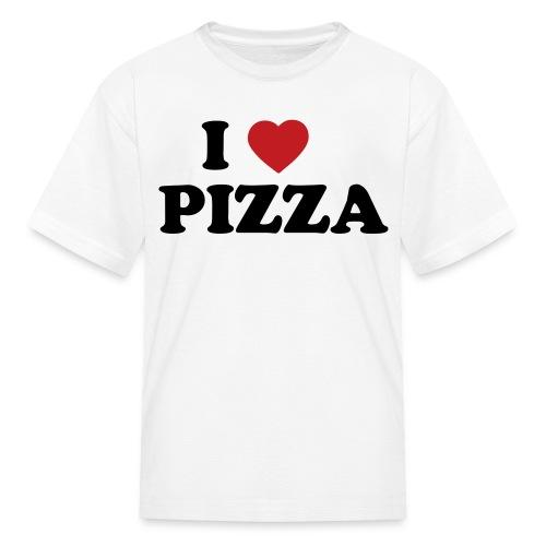 Kids I Love Pizza, White - Kids' T-Shirt