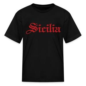 Kids Sicilia Gothic, Black - Kids' T-Shirt