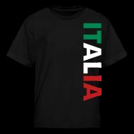 Kids' Shirts ~ Kids' T-Shirt ~ Kids ITALIA Tricolore, Black