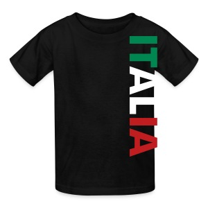 Kids ITALIA Tricolore, Black - Kids' T-Shirt